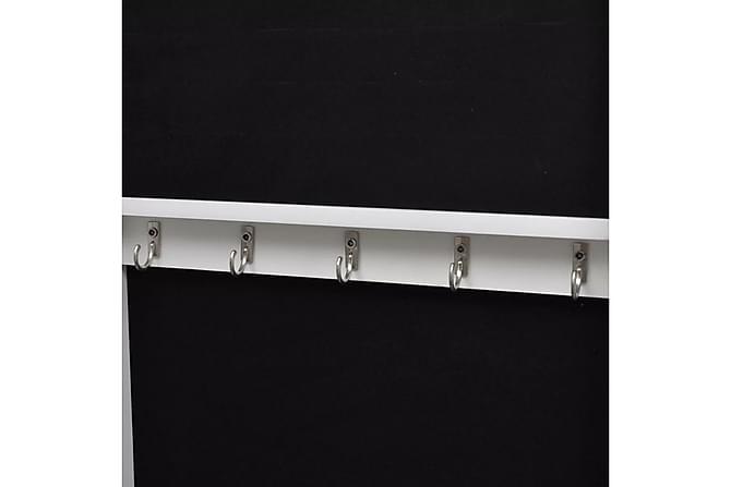 Vägghängt smyckesskåp med spegel och 2 dörrhängare trä - Heminredning - Väggdekor - Speglar