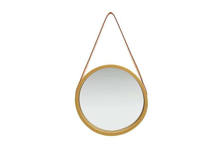 Väggspegel med rem 40 cm guld - Guld - Heminredning - Väggdekor - Speglar