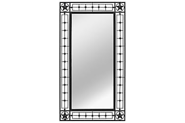 Väggspegel rektangulär 60x110 cm svart