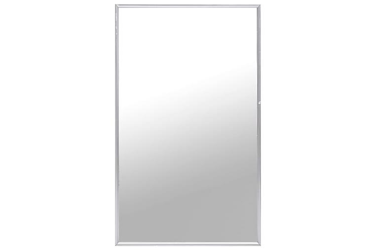 Väggspegel silver 100x60 cm - Silver - Heminredning - Väggdekor - Speglar