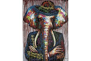 Canvastavla Elefantmannen