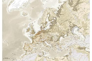 Canvastavla Euro Map Vintage
