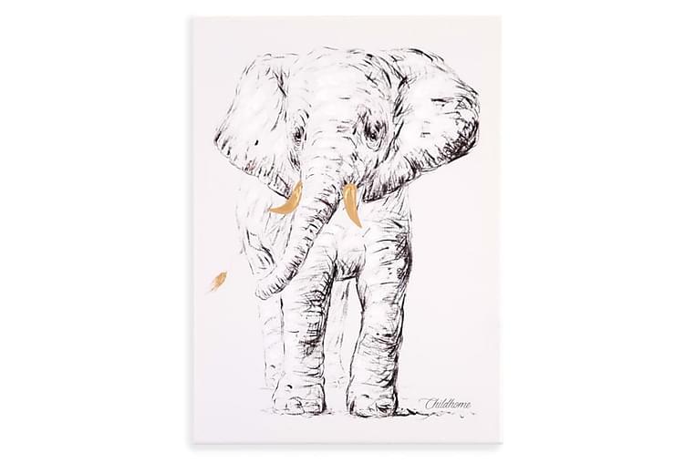 CHILDHOME Oljemålning 30x40cm elefant - Vit - Heminredning - Väggdekor - Tavlor & konst