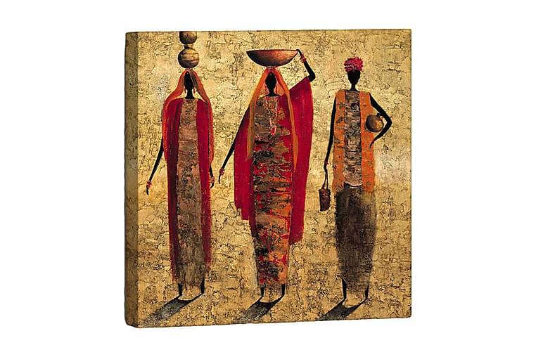 Dekorativ Målning - Röd/Orange/Brun - Heminredning - Väggdekor - Tavlor & konst