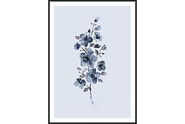 Floral Blue Tavla