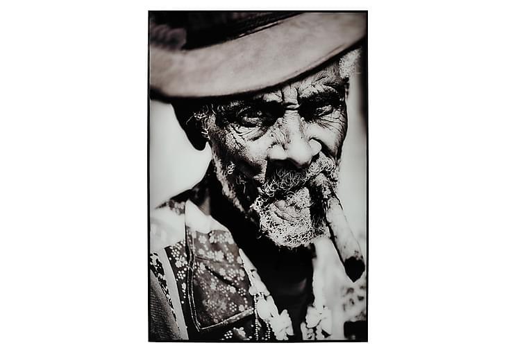Man med Cigarr Tavla - 80x120 cm Flerfärgad - Heminredning - Väggdekor - Tavlor & konst