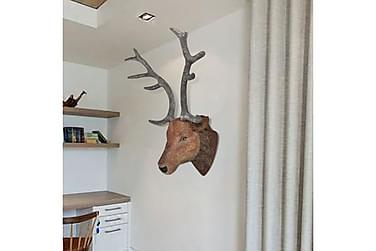 Hjorthuvud vägg handgjord