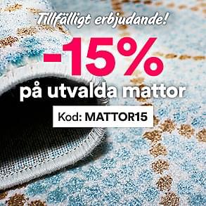Tillfälligt erbjudande - 15% rabatt på utvalda mattor
