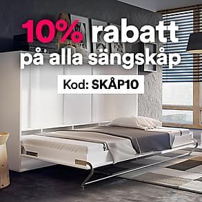 10% rabatt på alla sängskåp