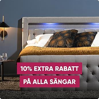 Jubileumsdeal! 10% extra rabatt på alla sängar