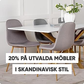 20% på utvalda möbler i skandinavisk stil