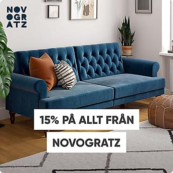 15% på allt från Novogratz