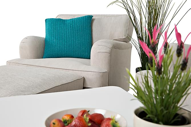 Howard sofagrupper 3 personers lige m. lænestol beige   trademax