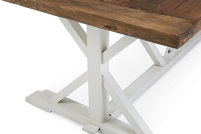 Spisebord Hvit/furu 200X100 Spisebord - Trademax