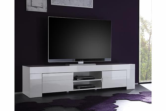 Eos Tv-Benk Stor 190 Hvit Hvit H?yglans - Trademax