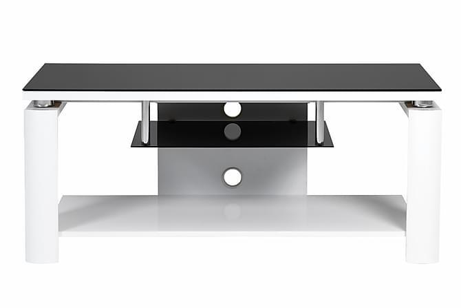 ... tv bord i hvit laminat tv benken har mange spennende funksjoner som