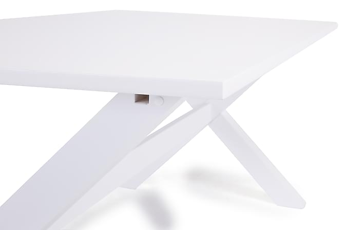 Linnea spisebord 200 cm kryds ben/hvid   trademax