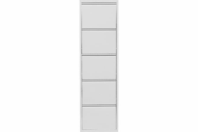 mobler-forvaring-sideboard-pragma-skoskap-5-lador-vit-p52888-vit