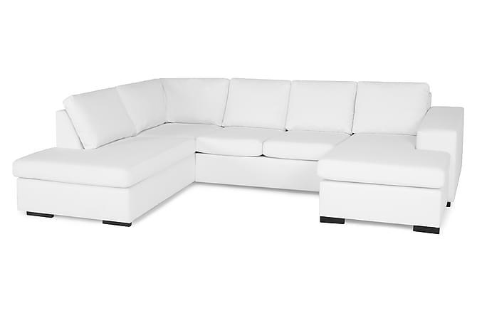 Memphis u sofa venstre hvid læder   trademax
