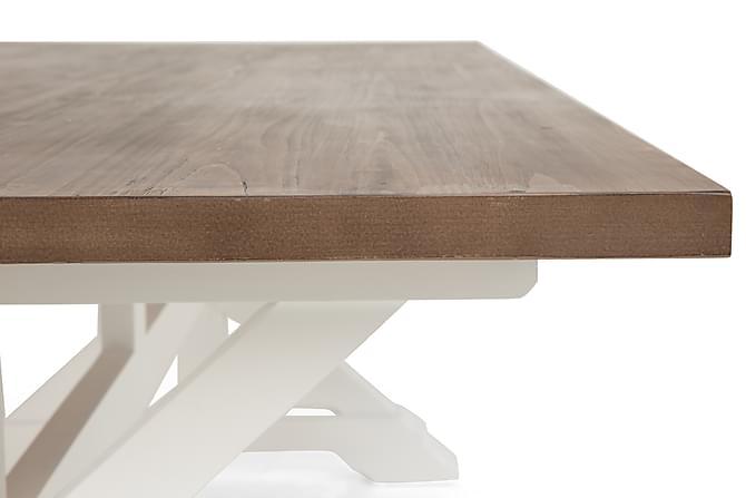 Lyon Spisebord 200X100 Natur/hvid Fyrretræ Vintage - Trademax