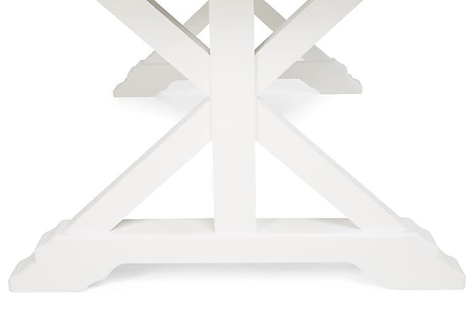Lyon spisebord 200x100 natur/hvid fyrretræ vintage   trademax