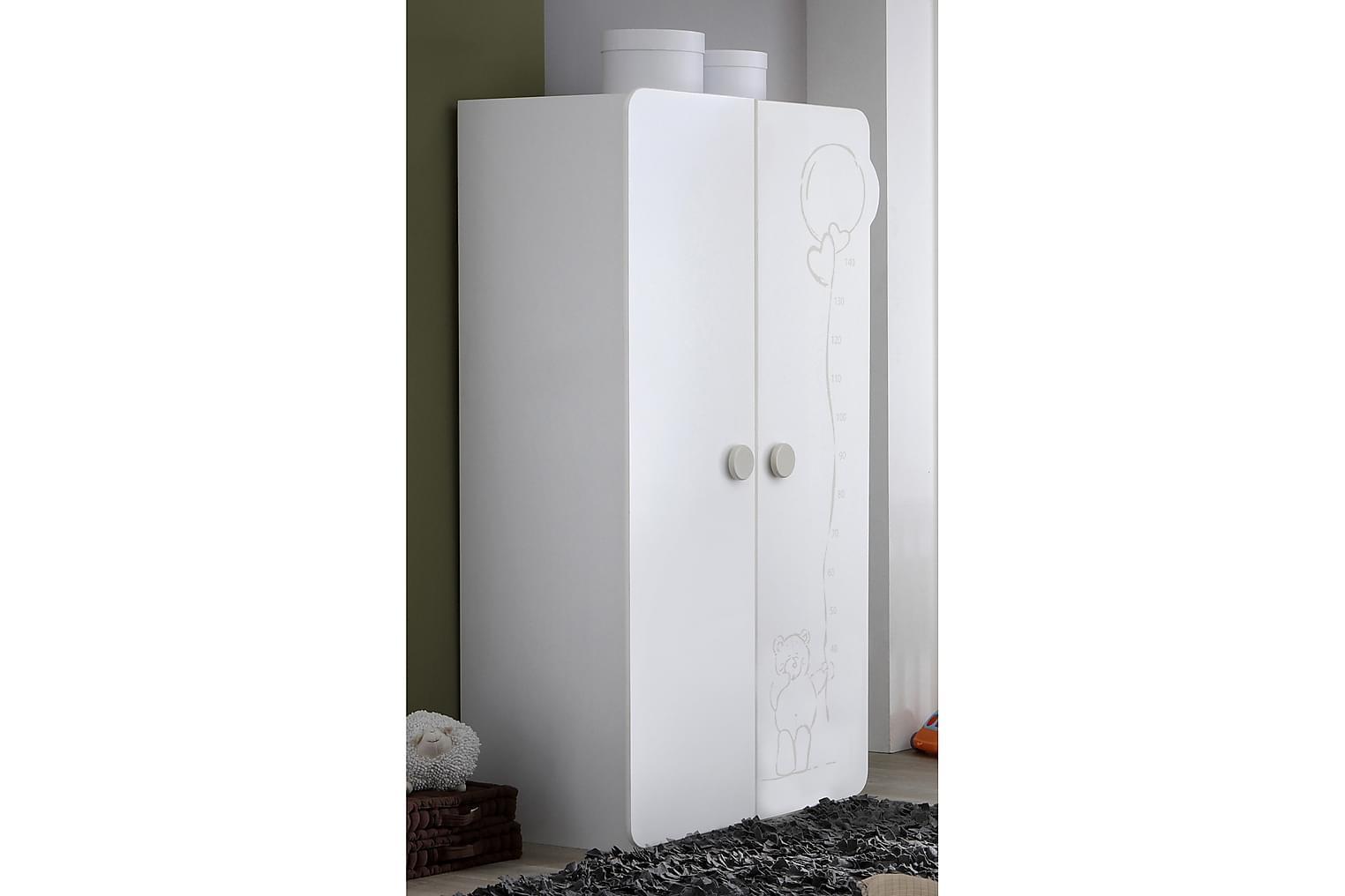 BALLARAT Garderob 2 Dörrar Vit -