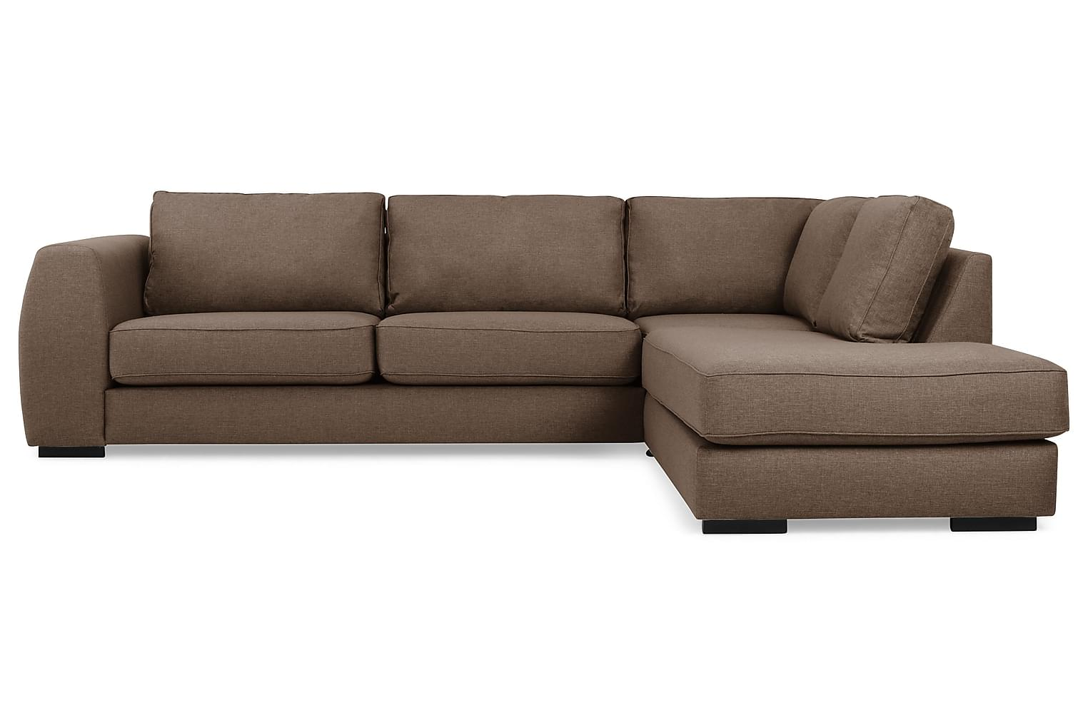 Clarksville CLARKSVILLE L-soffa Höger Brun -