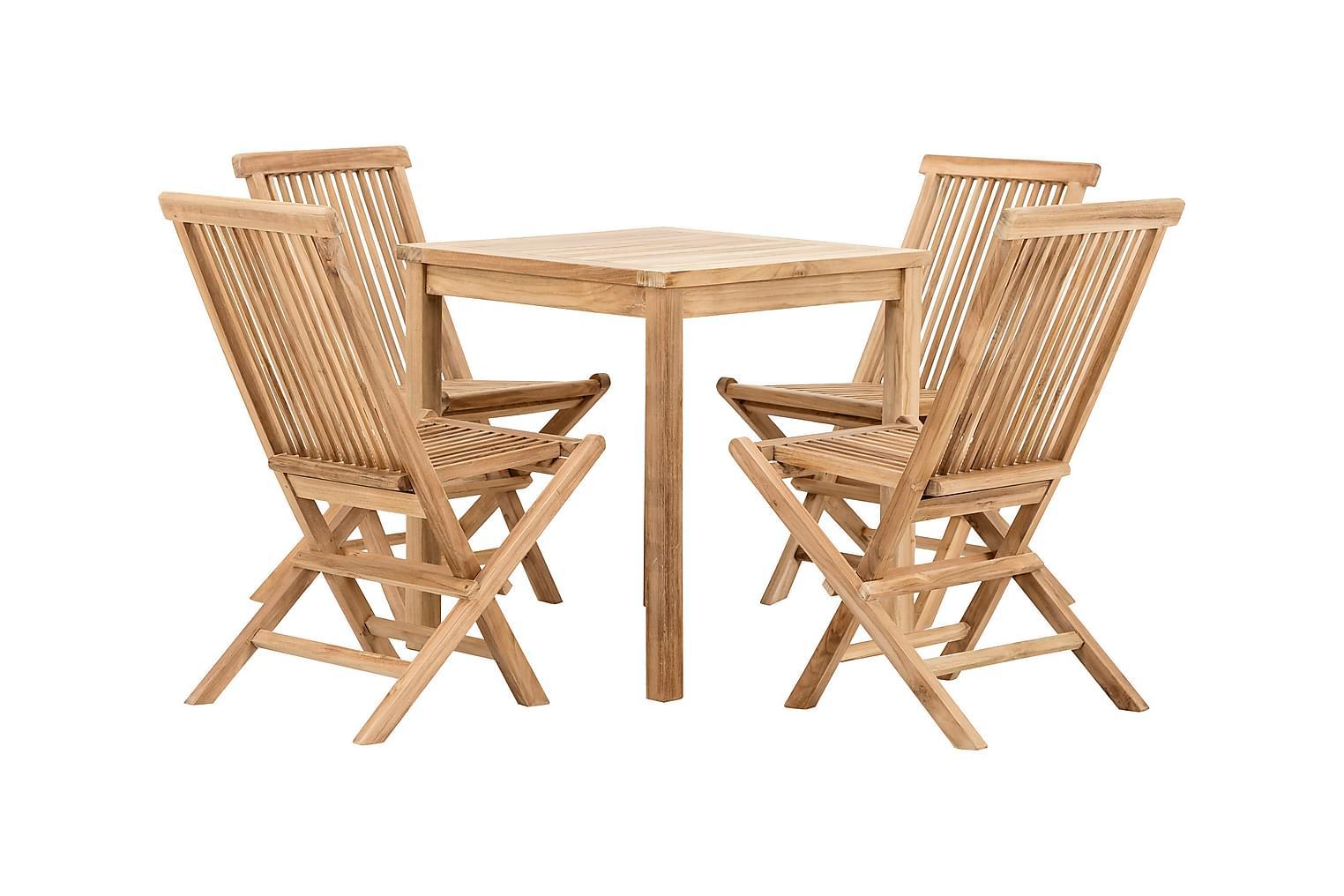 Lammhult LAMMHULT Cafébord 70 + 4 stolar Natur -