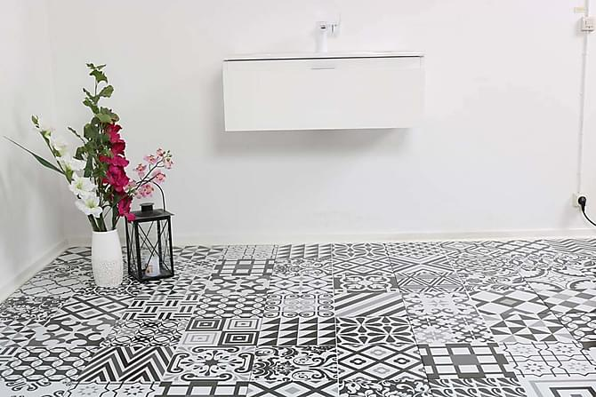 Klinker Life Black And White 50X50 - Kakel & klinker - Klinker - Mönstrat klinker