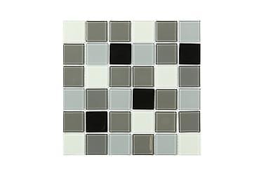 Kristallmosaik Black White and Grey 30X30