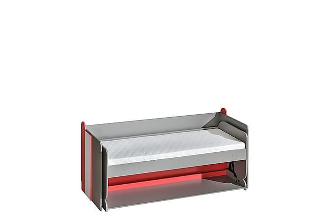 Futuro Barnsäng + skrivbord + madrass 214x96x120 cm - Grafit Vit - Möbler - Barnmöbler - Barnsängar & juniorsängar