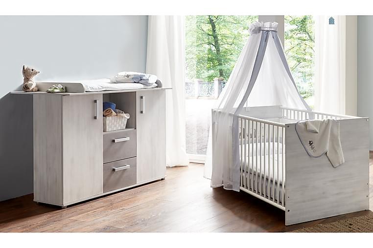 Insa Barnmöbelset Grå Silver - Vit/Vit/Grå/Silver - Möbler - Barnmöbler - Förvaring barnrum