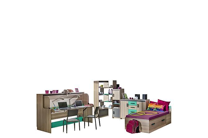 Ultimo Sovrumsset barn - Antracit Grön - Möbler - Barnmöbler - Förvaring barnrum
