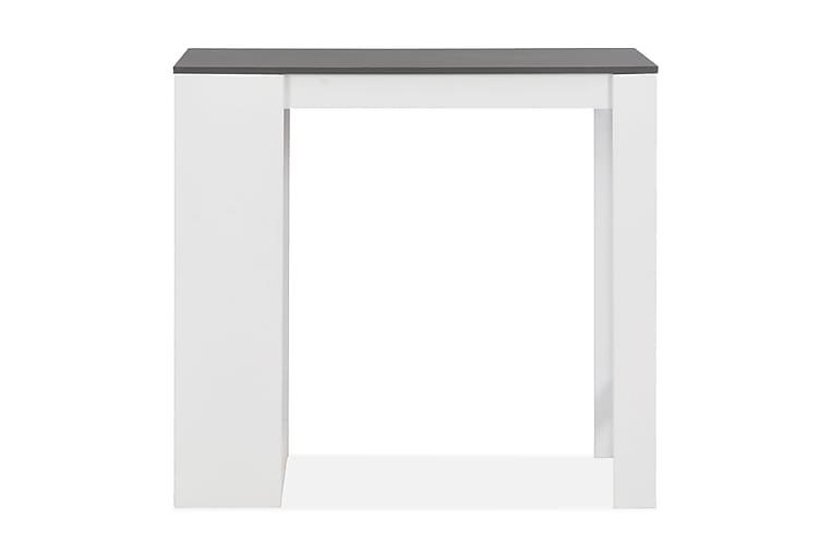 Barbord med hylla vit 110x50x103 cm - Vit - Möbler - Bord - Barbord & ståbord