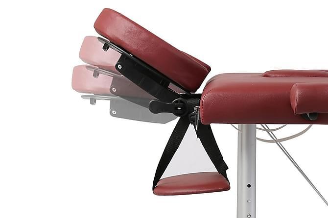 Hopfällbar massagebänk med 2 sektioner aluminium röd - Röd|Silver - Möbler - Bord - Massagebord