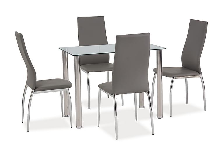 Elands Matbord 100 cm - Glas/Silver - Möbler - Bord - Matbord & köksbord