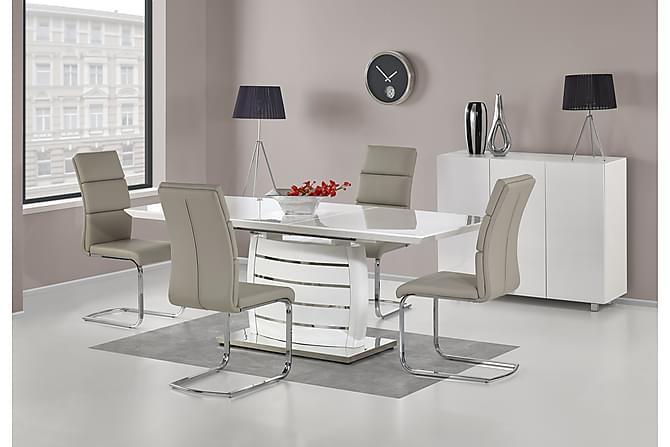 Georgette Förlängningsbart Matbord 160 cm - Vit - Möbler - Bord - Matbord & köksbord