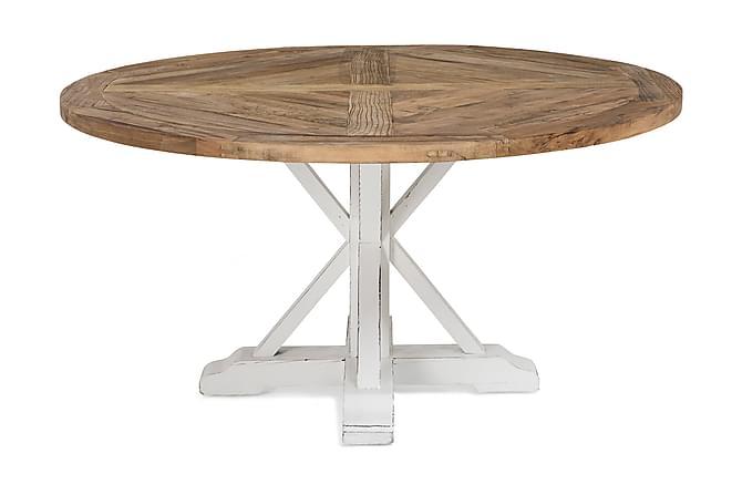Lyon Matbord 150 cm Runt - Vintage Natur/Vit - Möbler - Bord - Matbord & köksbord