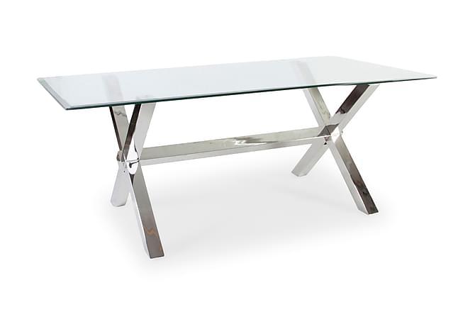Maine Matbord 198 cm - Glas/Krom - Möbler - Bord - Matbord & köksbord