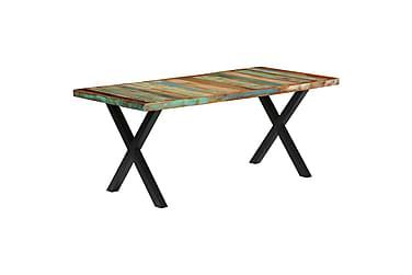 Matbord 180x90x76 cm massivt återvunnet trä