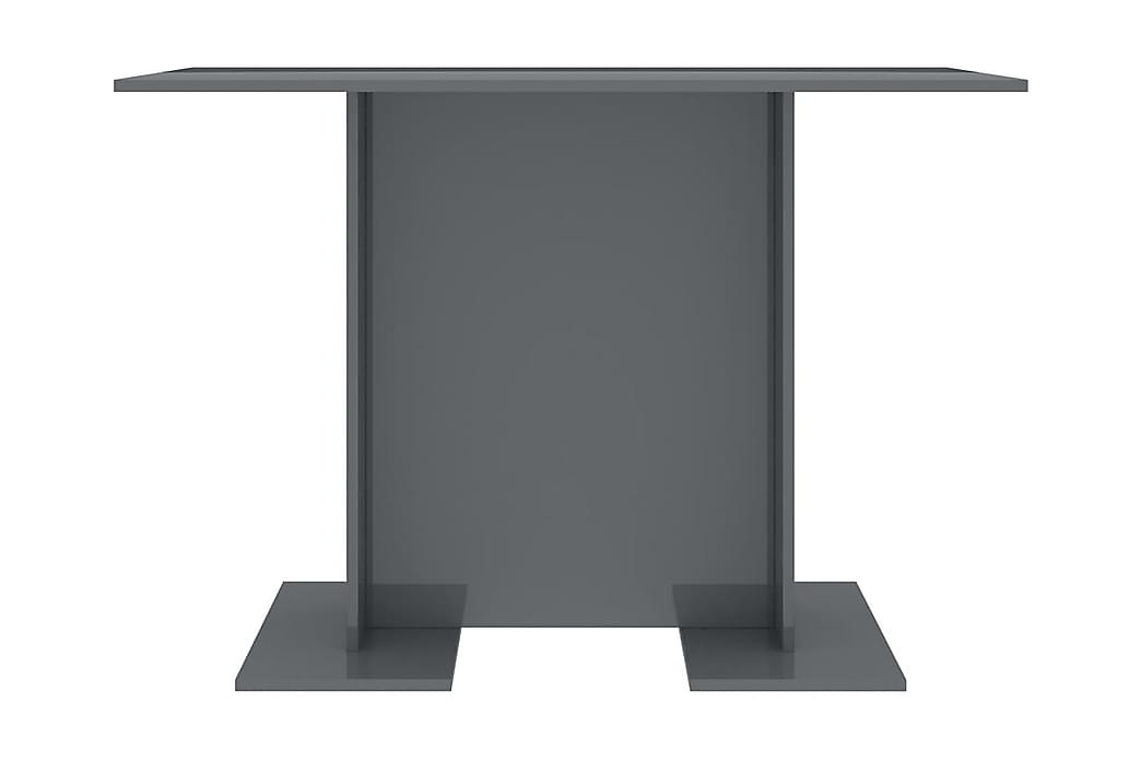 Matbord grå högglans 110x60x75 cm spånskiva - Grå - Möbler - Bord - Matbord & köksbord