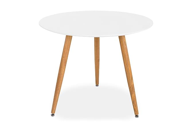 Pontus Matbord 90 cm Runt - Vit/Ek - Möbler - Bord - Matbord & köksbord