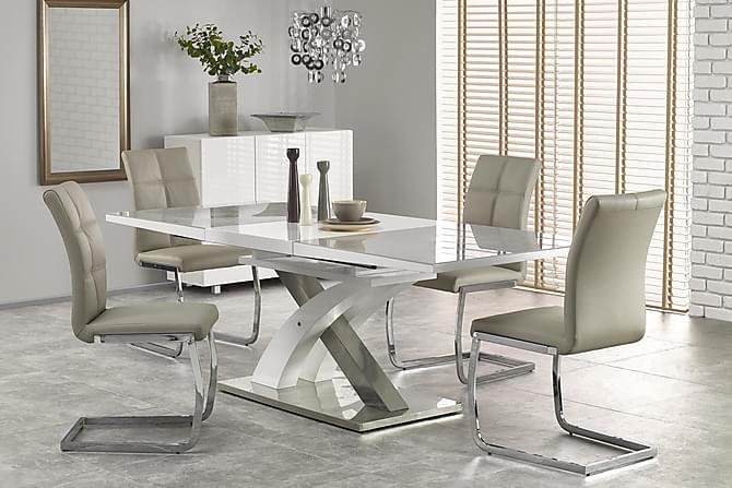 Sandor Förlängningsbart Matbord 160 cm - Grå/Vit - Möbler - Bord - Matbord & köksbord