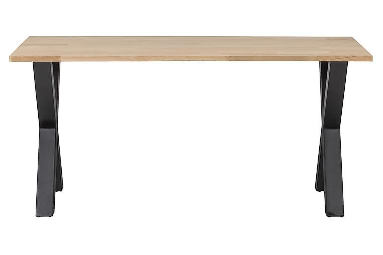 Tablo Matbord X-Formade Ben 160 cm Obehandlat - Ek/Svart - Möbler - Bord - Matbord & köksbord