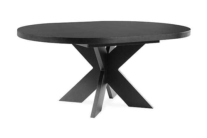 Telma Förlängningsbart Matbord 150 cm Runt - Svart - Möbler - Bord - Matbord & köksbord