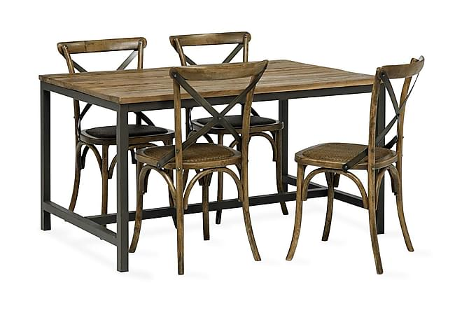 Vera Matbord 140 cm - Trä/Svart - Möbler - Bord - Matbord & köksbord