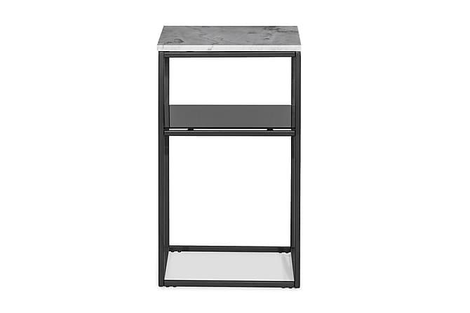 Carrie Sängbord 40x40x65 cm Marmor - Grå/Svart - Möbler - Bord - Sängbord & nattduksbord