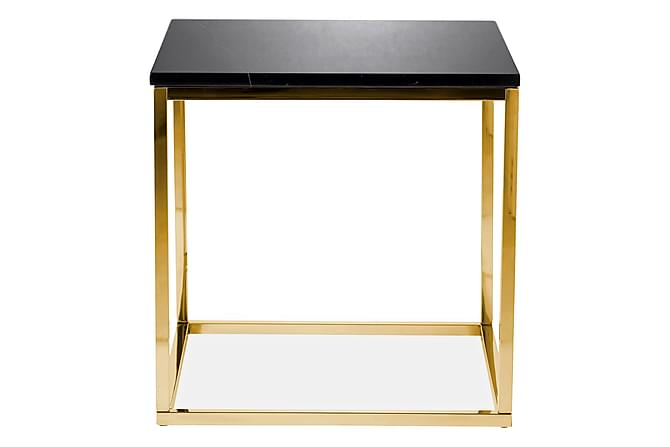 Carrie Sidobord 50 cm Marmor - Svart/Mässing - Möbler - Bord - Sängbord & nattduksbord