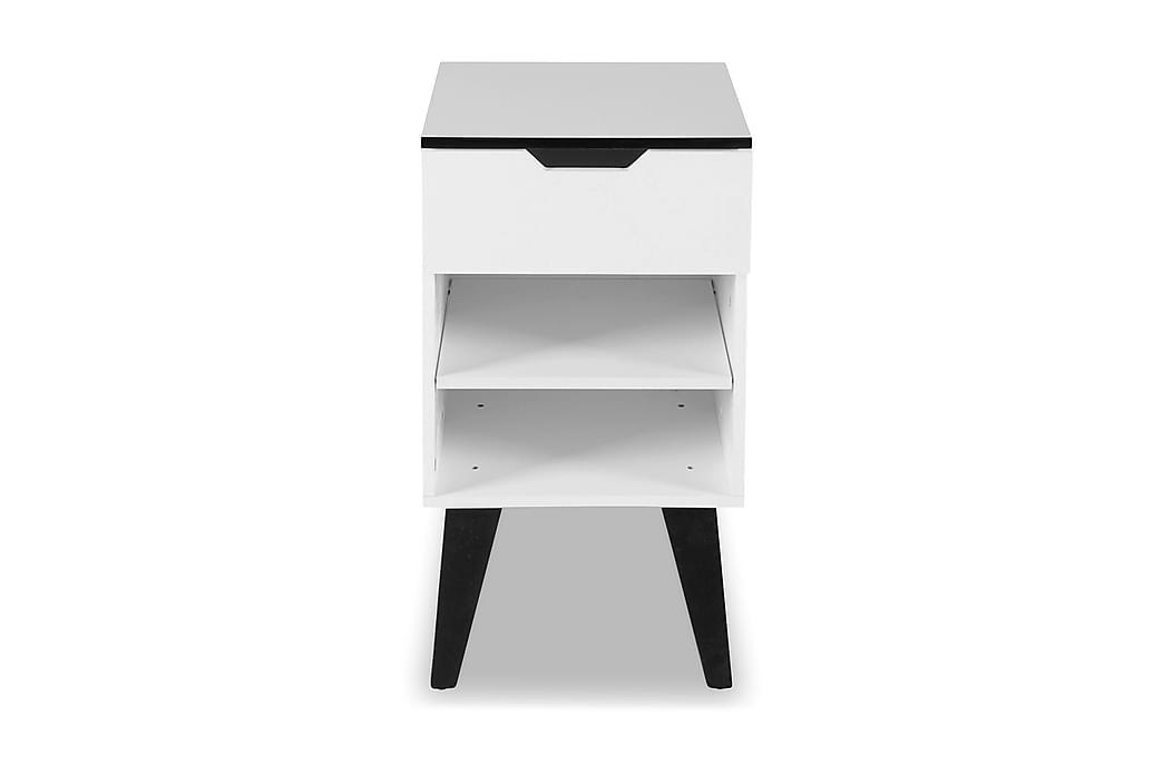 Durham Sängbord 40 cm - Vit - Möbler - Bord - Sängbord & nattduksbord