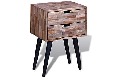 Megara Sängbord 2 Lådor 42x31 cm